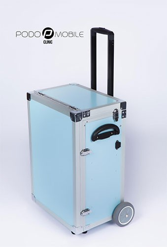 Fusspflegekoffer / Pedicure Trolley PodoMobile Maxi (blau)