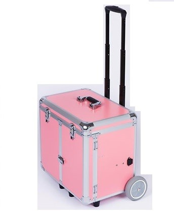 ♛ Fusspflegekoffer / Pedicure Trolley PodoMobile Midi (Pink)